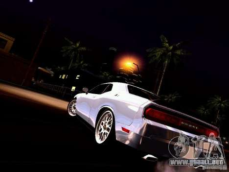 Dodge Challenger SRT8 2009 para vista inferior GTA San Andreas
