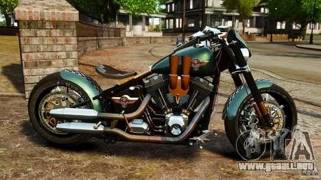 Harley Davidson Fat Boy Lo Racing Bobber para GTA 4 left
