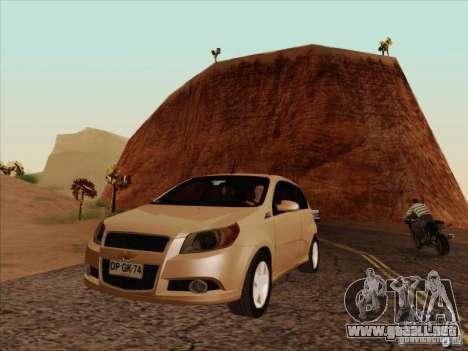 Chevrolet Aveo LT para visión interna GTA San Andreas