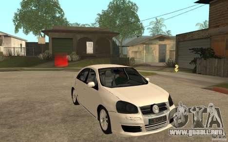 Volkswagen Jetta 2008 para GTA San Andreas vista hacia atrás