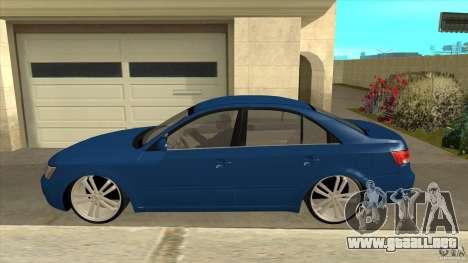 Hyundai Sonata NF para GTA San Andreas left