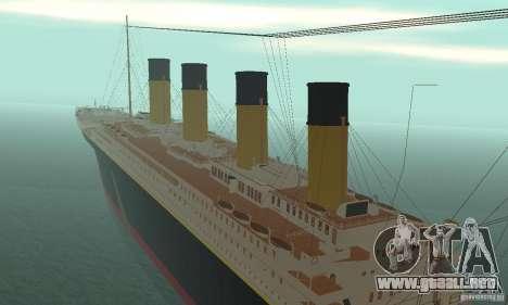 RMS Titanic para visión interna GTA San Andreas