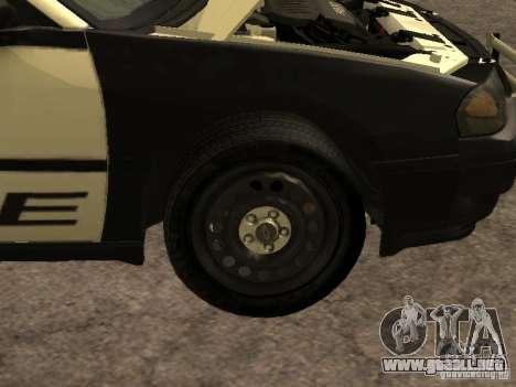Chevrolet Impala Police 2003 para visión interna GTA San Andreas