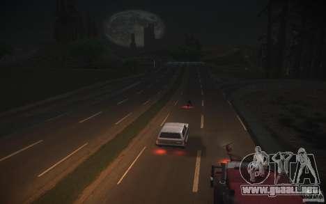 HD Road v 2.0 Final para GTA San Andreas sucesivamente de pantalla