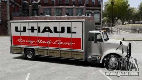U-Haul camiones para GTA 4 tercera pantalla
