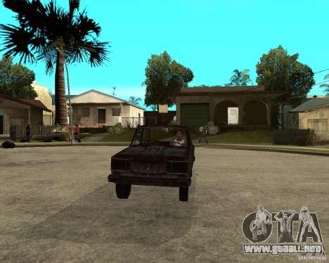 VAZ-2106 para GTA San Andreas vista hacia atrás