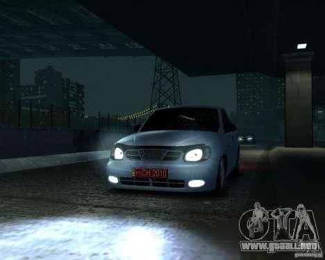Daewoo Lanos para GTA 4 visión correcta
