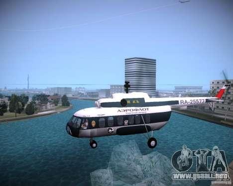 MI-8 para GTA Vice City vista lateral izquierdo