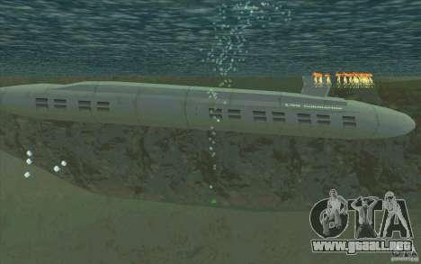 USS Submarine Beta para GTA San Andreas left