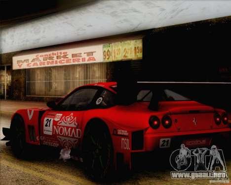 Ferrari 550 Maranello Super GT500 para la visión correcta GTA San Andreas