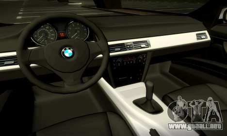 BMW 330 E90 para la vista superior GTA San Andreas