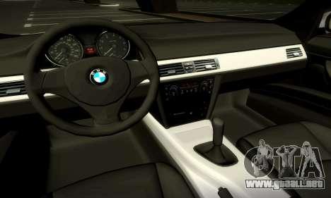BMW 330 E90 para la vista superior GTA San Andreas