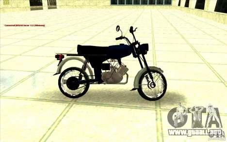Ciclomotor: para GTA San Andreas vista posterior izquierda