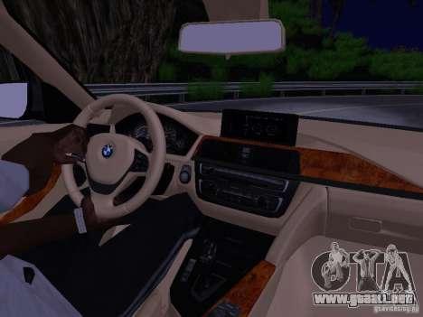 BMW 335i F30 Coupe para visión interna GTA San Andreas