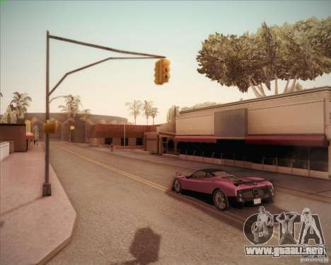 Pagani Zonda F V1.0 para GTA San Andreas vista hacia atrás