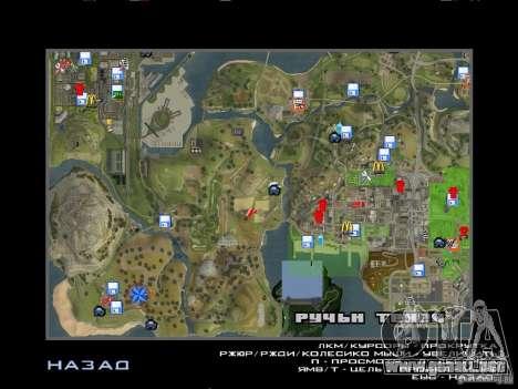 GhostCar para GTA San Andreas quinta pantalla