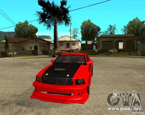 Ford Mustang Red Mist Mobile para GTA San Andreas vista hacia atrás
