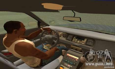 Ford Crown Victoria Orgeon Police para GTA San Andreas vista posterior izquierda