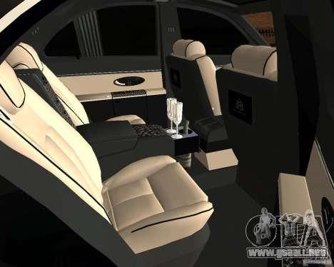 Maybach 57S para GTA San Andreas vista hacia atrás
