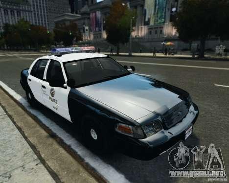 Ford Crown Victoria LAPD para GTA 4 left