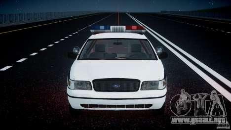 Ford Crown Victoria FBI Police 2003 para GTA motor 4