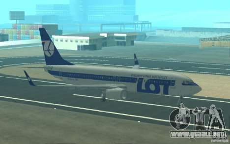 Boeing 737 LOT Polish Airlines para vista lateral GTA San Andreas