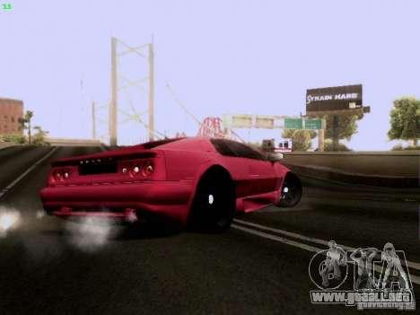 Lotus Esprit V8 para GTA San Andreas vista hacia atrás