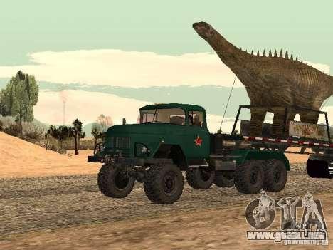 Dinosaurio Trailer para GTA San Andreas vista posterior izquierda
