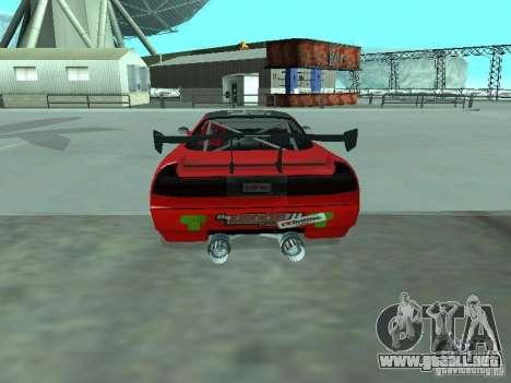 Infernus Drift Edition para GTA San Andreas vista posterior izquierda