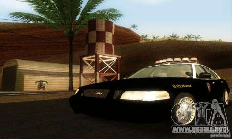Ford Crown Victoria Wyoming Police para GTA San Andreas
