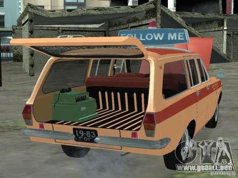 Volga GAZ-24 AEROFLOT 02 para la visión correcta GTA San Andreas