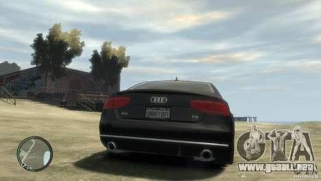 Audi A8 V8 FSI para GTA 4 left