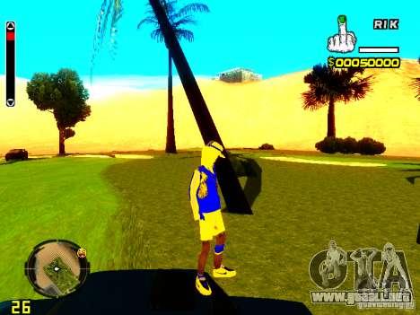 Piel vago v2 para GTA San Andreas sucesivamente de pantalla