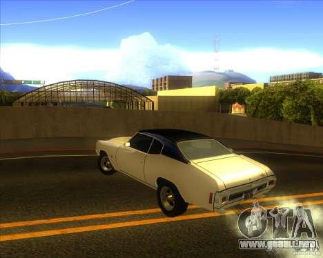 Chevy Chevelle SS stock 1970 para GTA San Andreas vista posterior izquierda