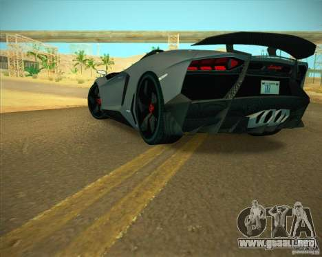Lamborghini Aventador J para la visión correcta GTA San Andreas