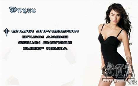 Las pantallas de arranque Megan Fox para GTA San Andreas tercera pantalla