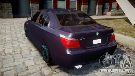 BMW M5 Lumma Tuning [BETA] para GTA 4 Vista posterior izquierda