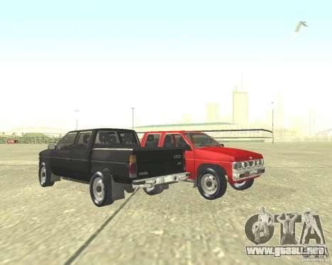 Nissan Datsun para GTA San Andreas vista posterior izquierda