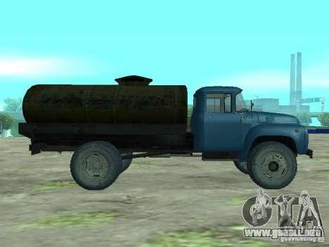 Camión cisterna de leche ZIL 130 para GTA San Andreas left