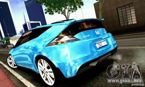 Honda CR-Z 2010 V2.0 para GTA San Andreas vista posterior izquierda