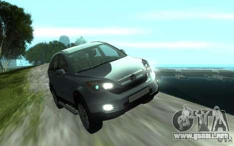 Honda CR-V para GTA San Andreas vista hacia atrás