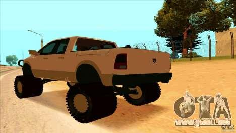 Dodge Ram 2500 4x4 para GTA San Andreas left