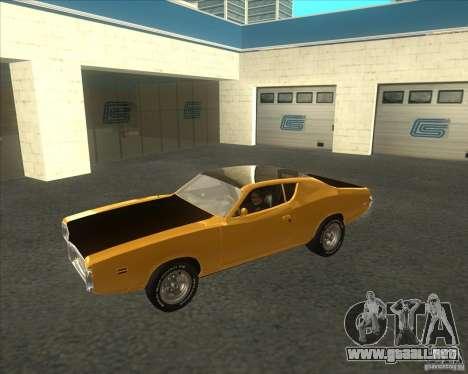 Dodge Charger RT 1971 para GTA San Andreas left