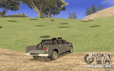 Toyota Tundra 4x4 para la visión correcta GTA San Andreas