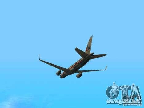 Boeing 757-200 American Airlines para visión interna GTA San Andreas