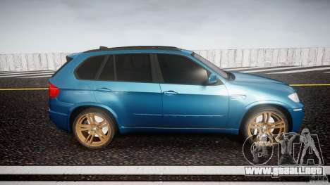 BMW X5 M-Power wheels V-spoke para GTA 4 vista interior