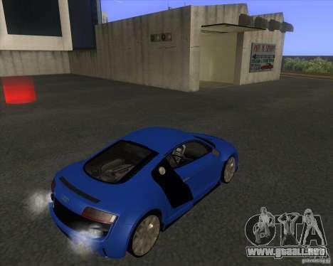 Audi R8 5.2 FSI para GTA San Andreas vista posterior izquierda