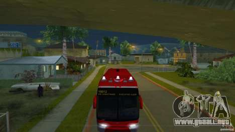 Rural Tours 10012 para GTA San Andreas vista posterior izquierda