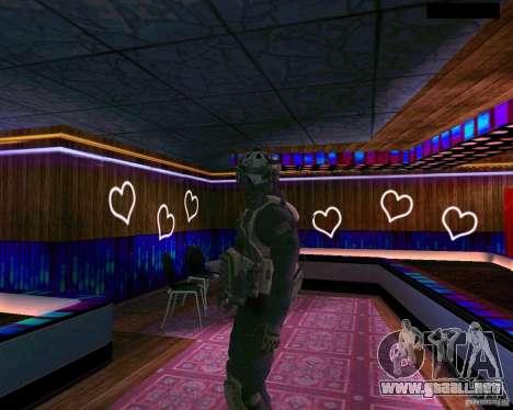 La segunda piel del CoD MW 2 para GTA San Andreas tercera pantalla