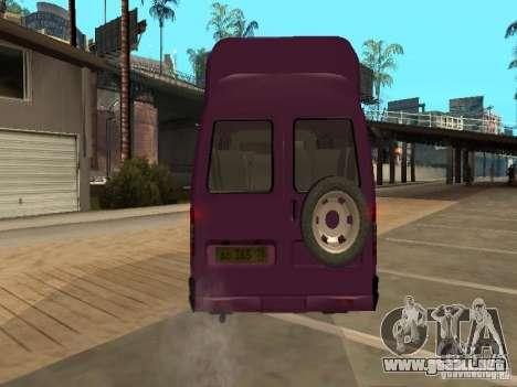 Taxi gacela 32213 para GTA San Andreas vista hacia atrás